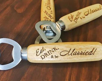 Rustic Wedding Favors, Personalized Wedding Favors, Engraved Bottle Openers, Wedding Favor Bottle Openers, Wedding Favors for Guests