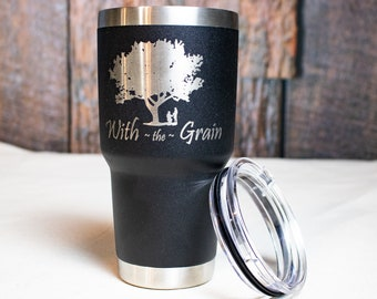 Custom Corporate Gifts- Engraved Logo Stainless Steel Tumblers- Employee Christmas Gifts