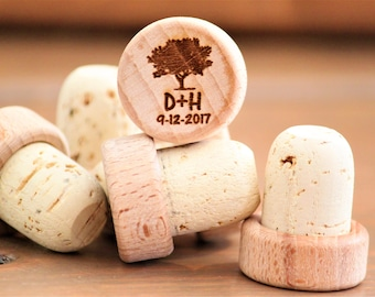 Wedding Favors Personalized Wine Cork Stopper with Thank You