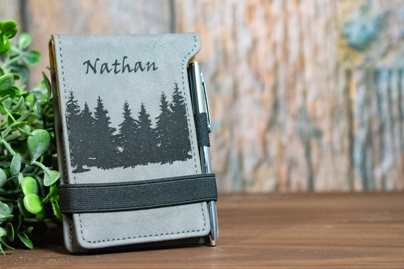 Personalized Leather Notepad Personalized Business gift Engraved Notepad Custom Leather Notepad Personalized notebook