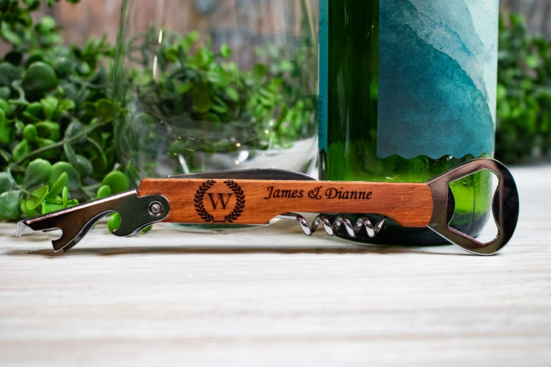 Custom Wine Wedding Favors Bulk Personalized Corkscrew Wedding Favors Wine Opener Wedding Favors for Guests