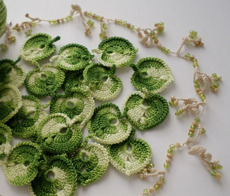 Uncinetto Verde Foglie Pizzo Irlandese Irish Crochet Boho Etsy