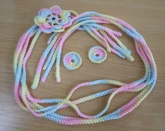 Irish crochet, Irish lace, Romanian cord 5 pieces, 60 cm each