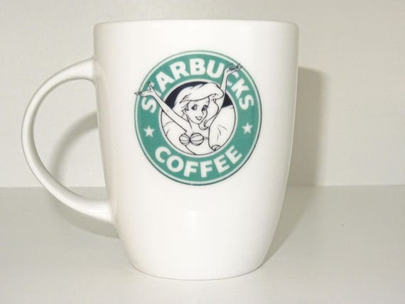 Cool mug White mug Coffee princess Novelty mug Funny mug porcelain mug sirenbucks coffee mug Coffe cup gift mug printing mug