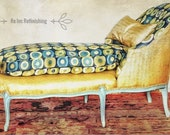 Louis XV Chaise Lounge, Antique Chaise Lounge, Antique Couch, French Style Chaise Lounge, French Furniture, French Daybed, Antique Daybed