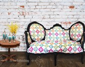 French Antique Sofa, French Antique Louis XV Higback Loveseat ,French Style Sofa, Antique Settee, French Antique Couch, Antique French Sofa