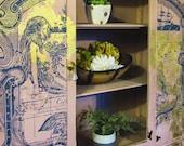 Dining Room Hutch, Antique Linen Closet, Large Antique Bookcase, Farmhouse Bookcase, Shabby Chic Hutch, Shabby Chic China Cabinet, Farmhouse