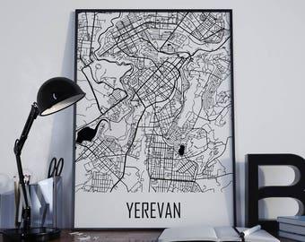 yerevan map streets