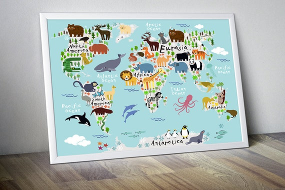 Nursery world map nursery map map for kids world map for kids etsy gumiabroncs Images