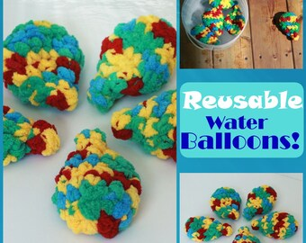 Reusable Water Balloons, Water Toys, Outdoor Toys, Summer Toys, Crochet Water Balloons, Eco-friendly Water balloons, Latex-Free Balloons