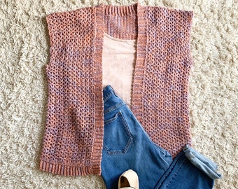 CROCHET PATTERN, Crochet Summer Cardigan, Crochet Cardi Pattern, Short Sleeve Cardigan Crochet Pattern, Women's Cardigan Crochet Pattern