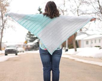 CROCHET PATTERN, Crochet Shawl Pattern, Triangle Scarf Pattern, Spring Shawl Pattern, Crochet Wrap Pattern, Modern Crochet Shawl Pattern