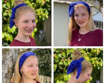 CROCHET PATTERN, Crochet Hair Tie Pattern, Crochet Headband Pattern, Crochet Hair Accessory Pattern, Crochet Scrunchie Pattern