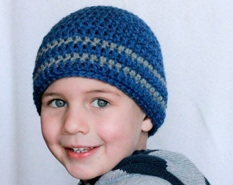 Boys hat, Girls hat, Winter hat, Crochet Hat, Boys Beanie, Girls Beanie, boys toque, girls toque, Kids Hat, Striped hat