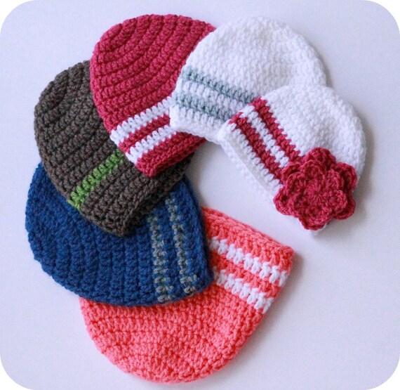 ab032eb5cde Simple Crochet Beanie Pattern Easy crochet hat pattern baby