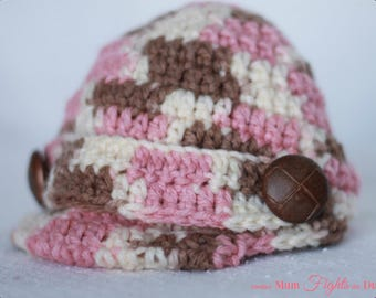 Baby Newsboy Hat Newborn Hat with brim Newborn Girl Hat Baby Shower Gift Crochet baby hat Newsboy Beanie Newborn Hat