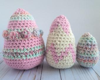 Crochet Egg Pattern, Crochet Easter Eggs, Crochet Easter Pattern, Easter Crochet Pattern, Egg Crochet Pattern, Crochet Easter Decoration