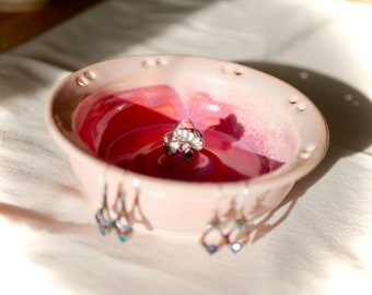 Bright pink and magenta jewelry dish