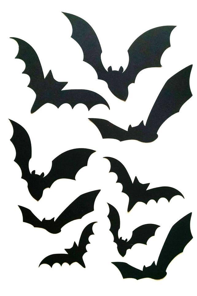 Paper Bat Cutouts 60 Piece Kit Halloween Silhouette Wall | Etsy