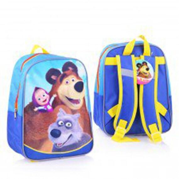 0eefe30ecba4f average Preschool Backpack Masha and the Bear, Baby Bag, Small Backpack  Kids Girl Cute Backpack Kindergarten Gray, Little Girl