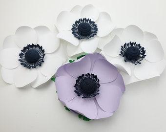 Mini Anemone Template Paper Flower Small/Medium/Large PNG SVG DXF Studio3 Wedding Party Birthday Decor