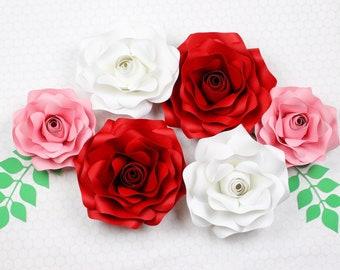 Small / Medium / Large / Paper Flower  Rose Template #1 PDF SVG DXF Png Pdf Studio3 Wedding Party Birthday Decor