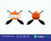 Halloween Pumpkin Svg. Halloween Face Svg. Halloween Clipart, Split Monogram Svg, DXf, Eps, Png Files