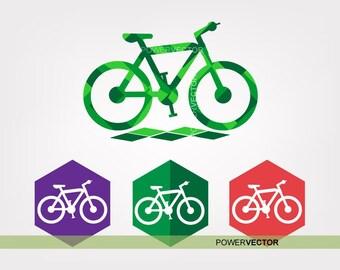 Bike Svg. Bicycle clip art, Bike icon low poly illustration, Bike graphics, Bike clipart