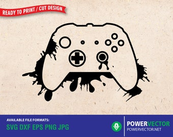 Xbox game controller svg | Gamepad, Xbox one svg Video game controller Svg Dxf Eps Png Cricut Silhouette cut files, splatter