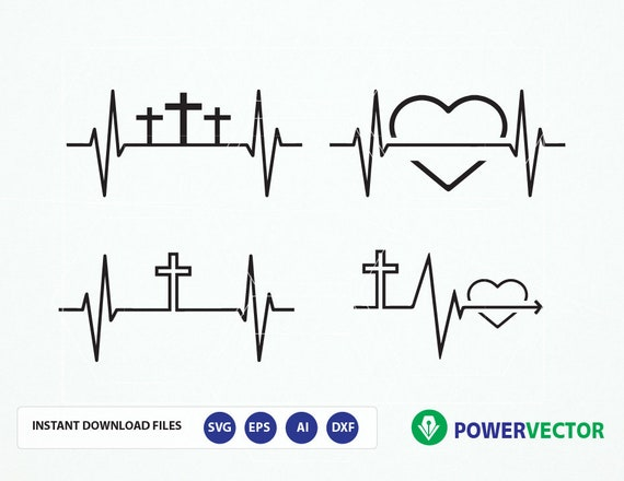 Svg Heart Ekg Christian File Heartbeat Svg Png Dfx Eps Etsy