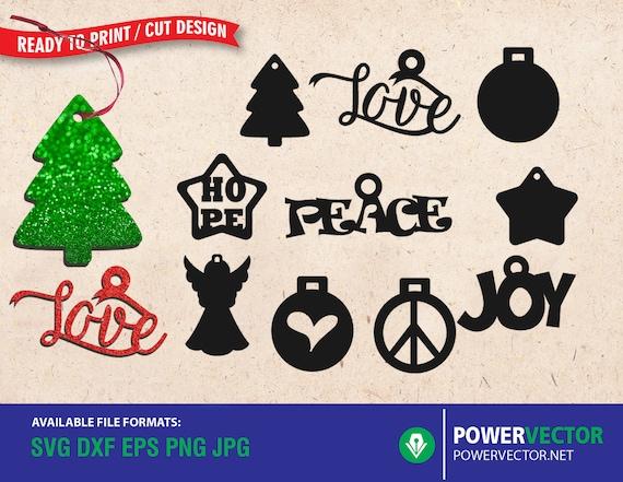 Christmas Ornaments Svg Cut Files Christmas Svg Jpg Eps Pdf Etsy