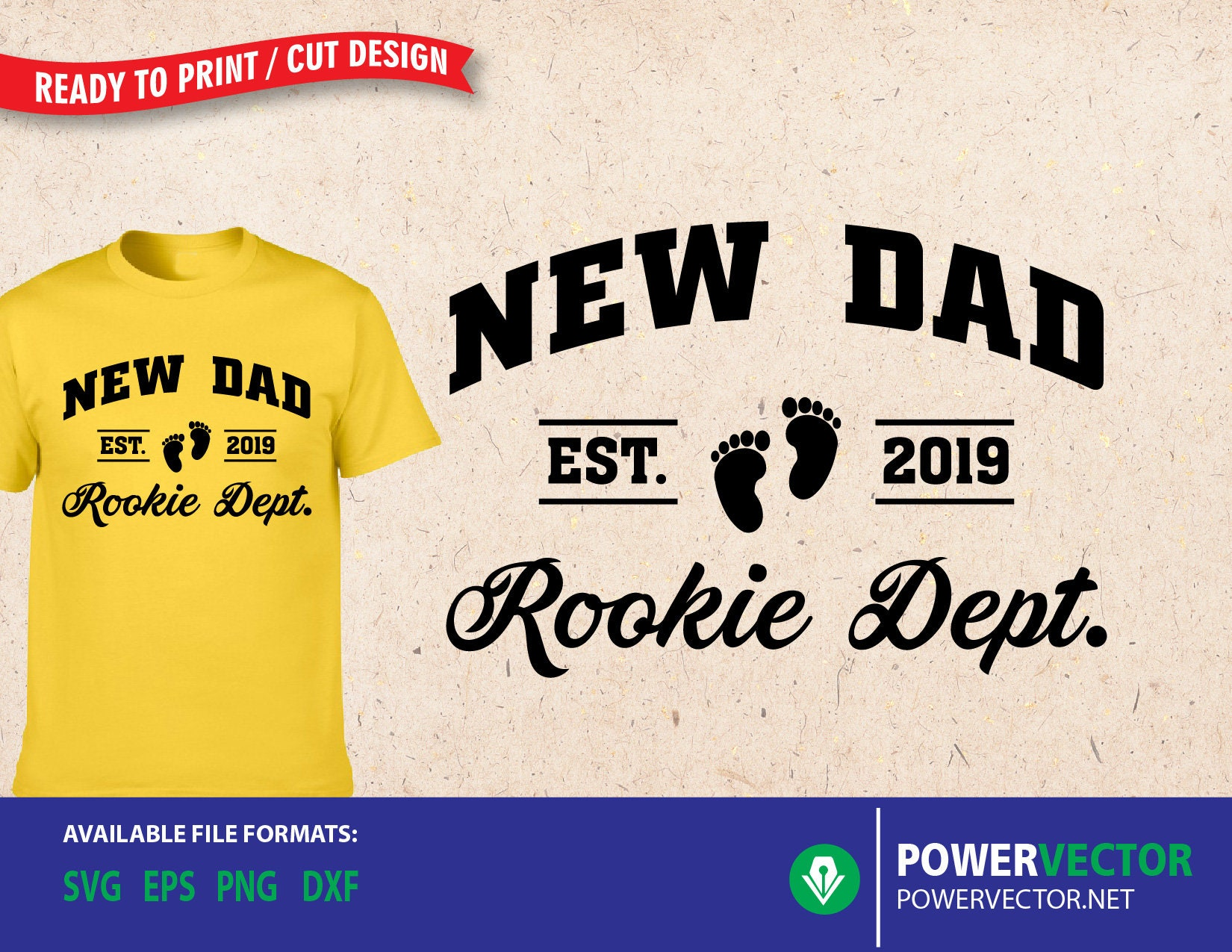 45a8155a New Dad Svg. New Dad Est 2019 Rookie Dept T shirt Design. | Etsy
