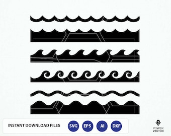 Waves Clipart Files. Waves Svg File. Wave Png. Wave Cricut. Waves Vinyl Cut File. Waves Cutting File. Waves Silhouette File. Waves Dxf