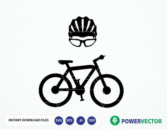 Bicycle Helmet Outline SVG Biking Svg