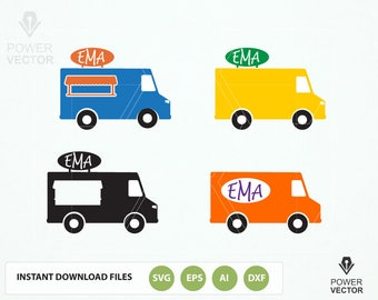 Food Truck Cuttable Designs Monogram Svg, Dxf, Eps, Png use for your Print and Cut Projects, Vector Art, Vinyl Digital Cut Files Download