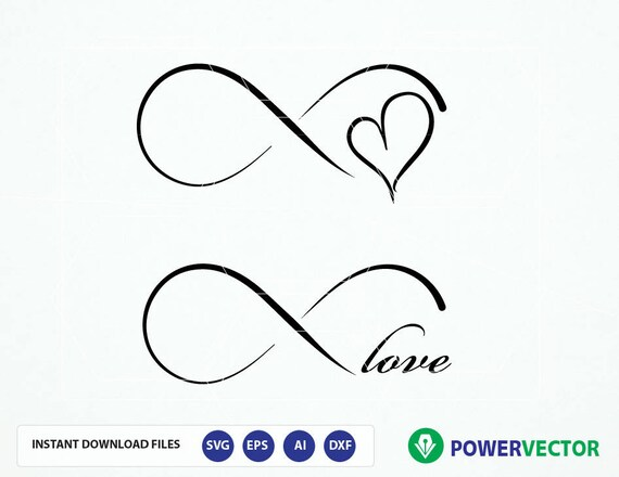 Infinity Love Svg Eps Dxf Digital Cut Files Infinity