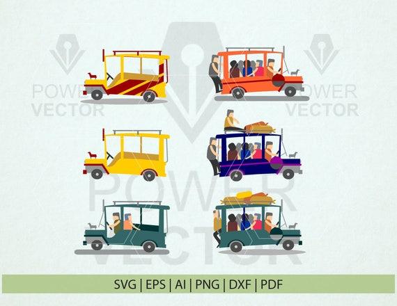 Philippine Jeepney Clip Art Pinoy Jeep Svg Passenger Jeepney Etsy