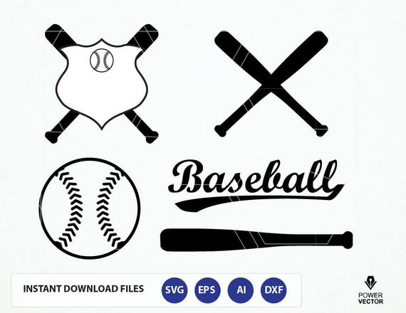 baseball svg bat softball cut file sports dxf vector clipart cutting clip pdf rookie eps silhouette monogram heart order svgs