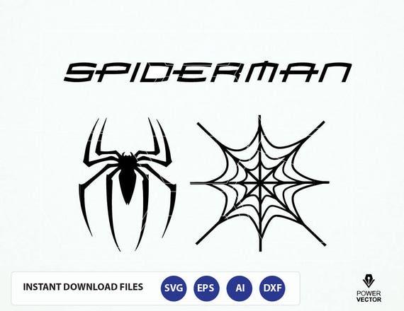 spiderman logo spider web svg spider man clip art spider etsy