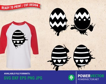 Easter Egg Splatter, Ester SVG | Splash Eggs Svg Dxf Eps Png Print, Cut Files for Cameo, Cricut | Vector Clipart Download