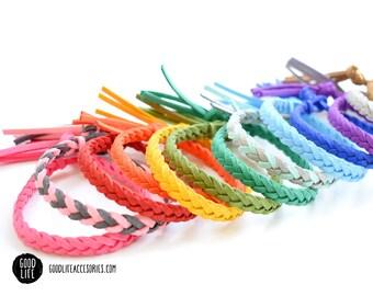 Braided Essential Oil Diffuser Bracelet – TASSEL Closure –Vegan Faux Suede – Adult Sizes