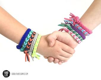 Children's Braided Essential Oil Diffuser Bracelet –TASSEL Closure –Vegan Faux Suede – Child Sizes