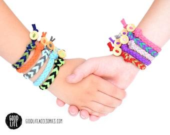 Children's Braided Essential Oil Diffuser Bracelet –BUTTON Closure –Vegan Faux Suede – Child Sizes