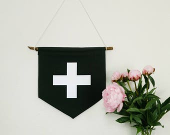 "Handmade ""PLUS"" Wall Banner // Wall hanging // Wall Art // Custom Gift"