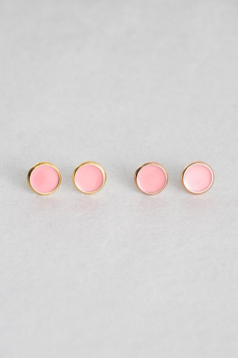 14K Bubble Gum Pink 10mm Palette Earrings