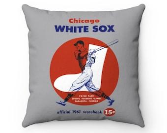 1961 Chicago White Sox Baseball Spring Training Program Cover - Pillow