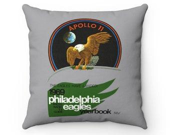 1969 Vintage Philadelphia Eagles Football Yearbook Cover - Pillow