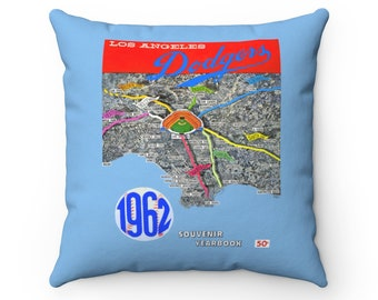 1962 Vintage Los Angeles Dodgers Yearbook Cover - Pillow