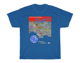 1962 Vintage Los Angeles Dodgers Yearbook Cover - Heavy Cotton Tee
