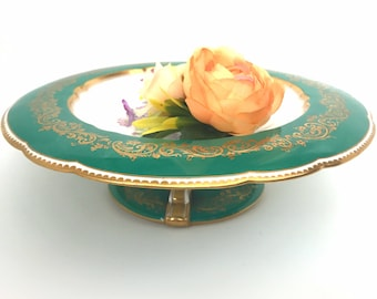 Exquisite Antique Cake Stand Let them Eat Cake 1 one Tier Marie Antoinette French